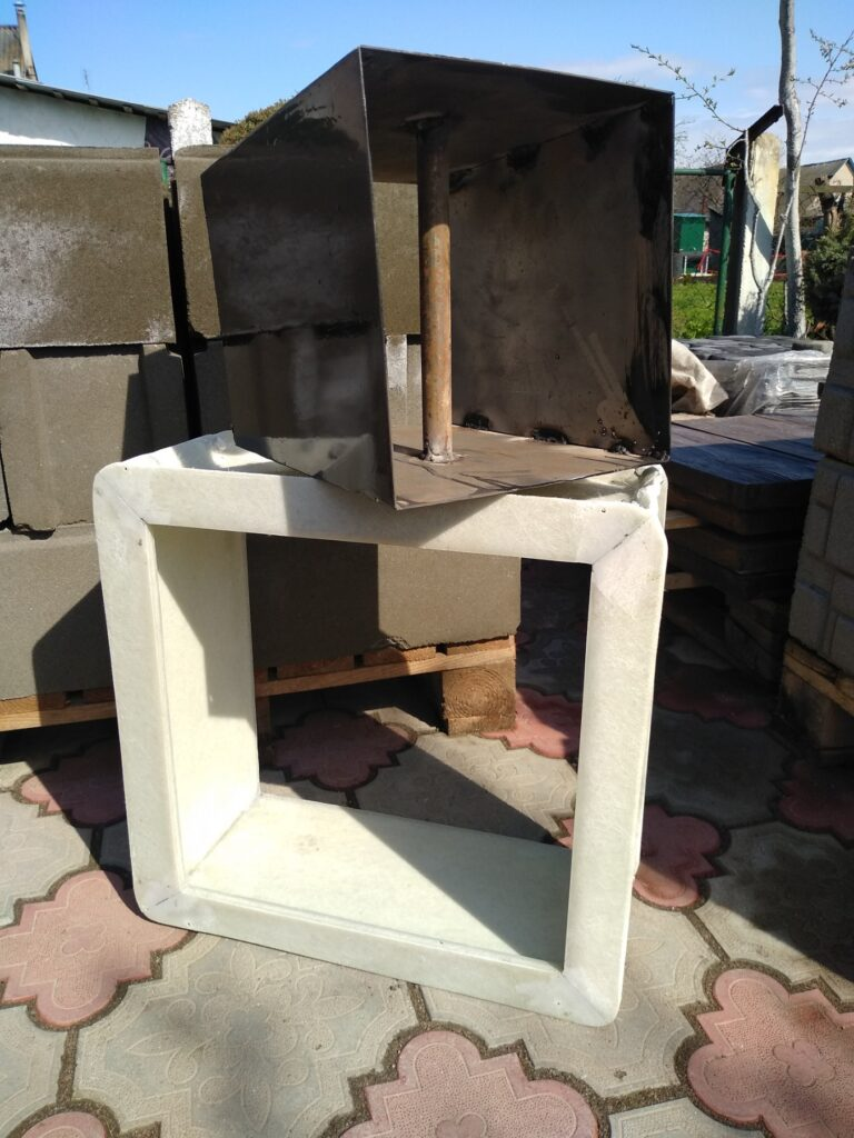 форма блока Классика 40х40х20 см с фаской