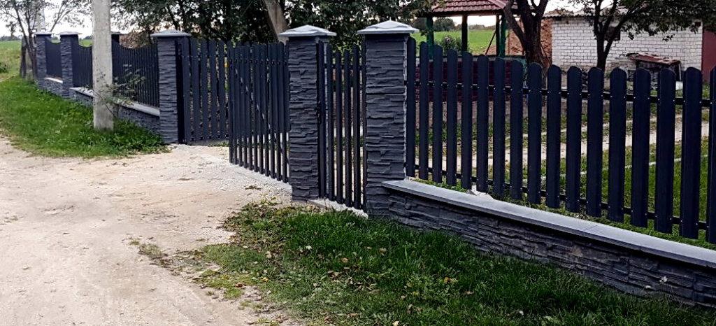 забор из блоков скала