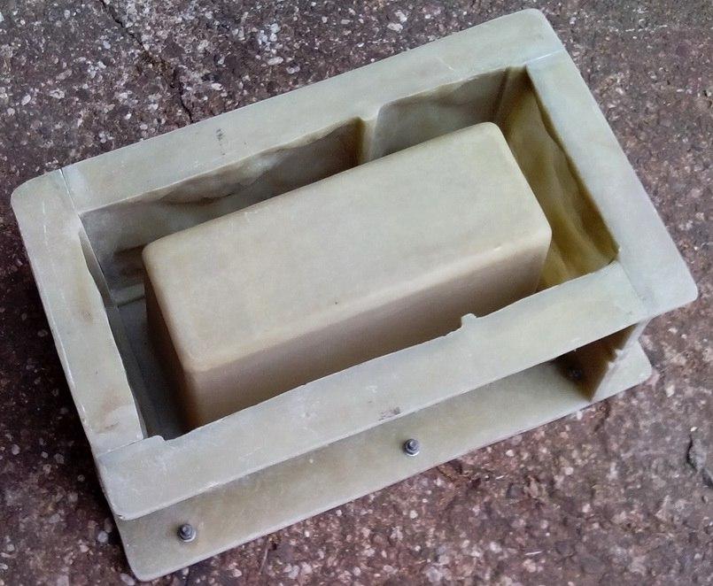 форма блока забора под мытый бетон