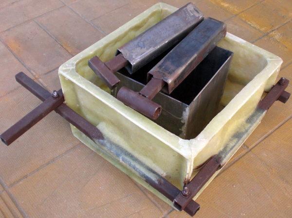 форма блока столба забора