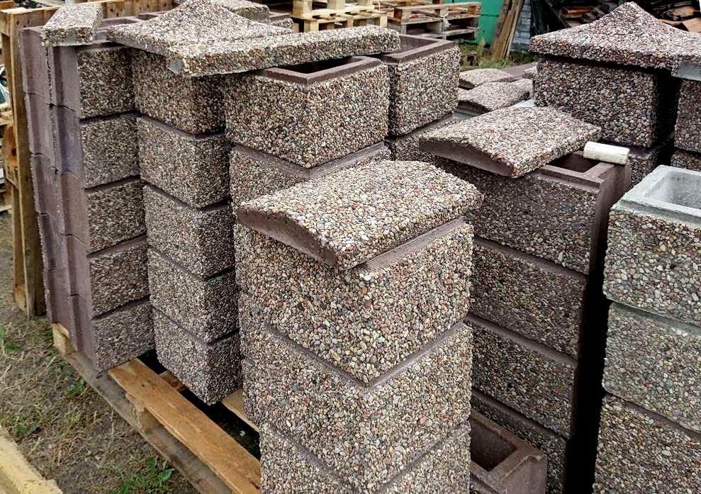блоки с фаской мытый бетон