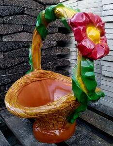 форма кашпо Лукошко с цветком